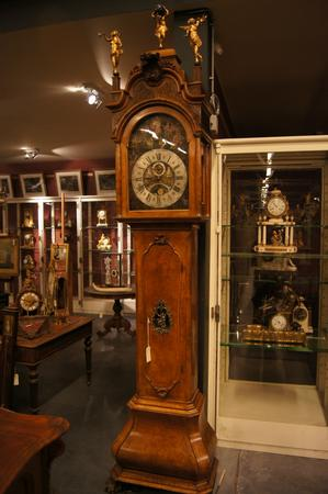 Dutch 19th C grandfather clock with music