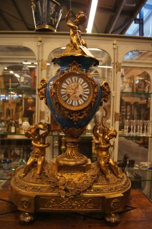 Napoleon III bronze Sevres clock, 2nd half 19th C