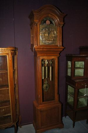 Oak grandfather clock with quater strike, around 1900