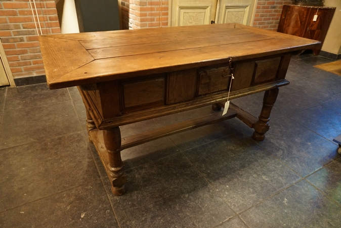 Antique French country table, first half 19th C.