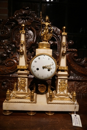 Louis XVI portico clock, 2nd half 18th C.