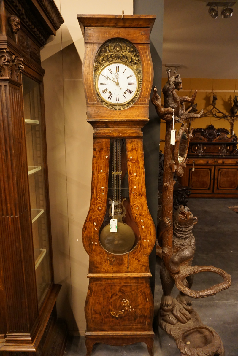 French Comtoise Clock 19th C 03 Grandfather Clocks