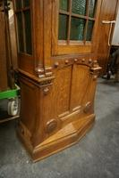 Art deco style Grandfather clock in oak, Germany early 20th C.