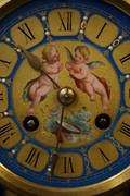 Bronze clock with Sevres porcelain 19th Century