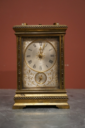 Carriage clock by Paul Garnier