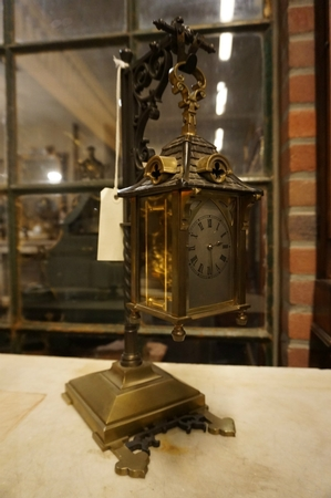 Carriage clock in stand
