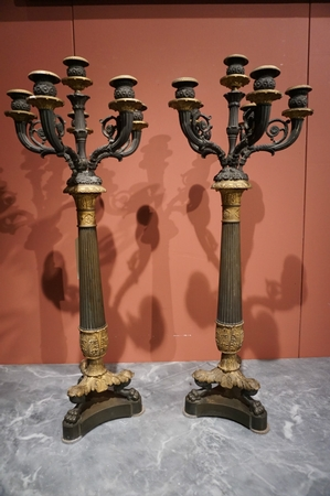 Charles X Pair of candelabras