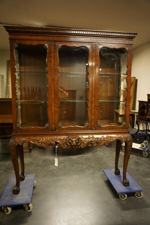 Chippendale vitrine by Waring & Gillow