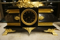 style Clock set in marble & bronze, France 19th century