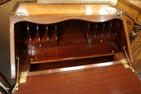 Desk with porcelain  in satinwood & mahogany, France around 1900