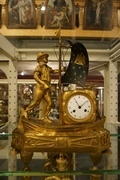 Directoire style Clock Le Matelos in gilded bronze, France around 1800