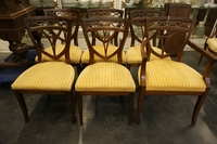Directoire style set of chairs in mahogany, Holland around 1800