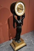 Empire style Clock in bronze, France around 1800