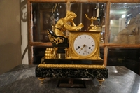 Empire Lectura style clock in bronze, France	 18th century