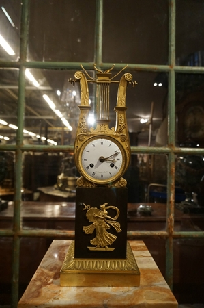 Empire Lyre clock
