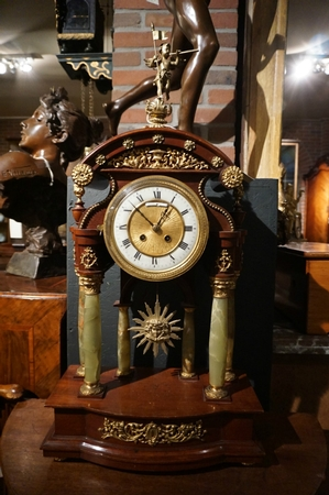 Empire Mantle clock with Lenzkirch movement