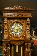 Grandfather clock in walnut, Italy 2nd half 20th Century