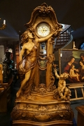 Grandfather clock in walnut, Italy first half 20th C.