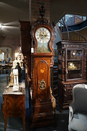 Grandfather clock signed Eldert Heijnen
