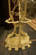 Hallstand in painted iron 19th century