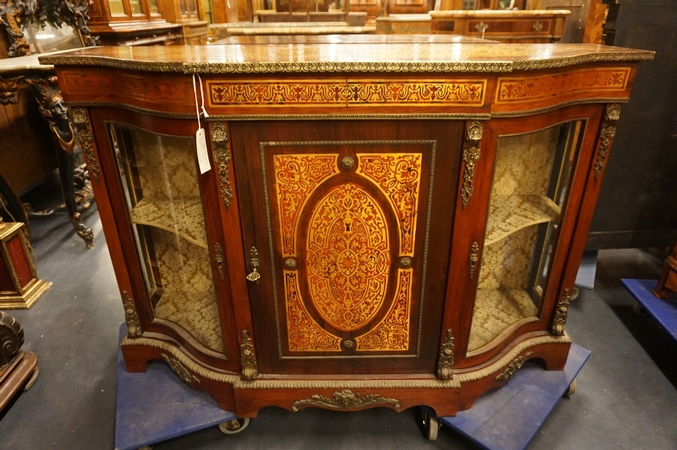 Italian boulle style credenza