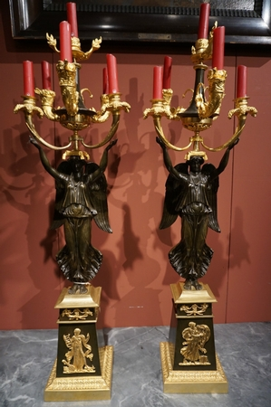 Late Empire Pair of candelabras
