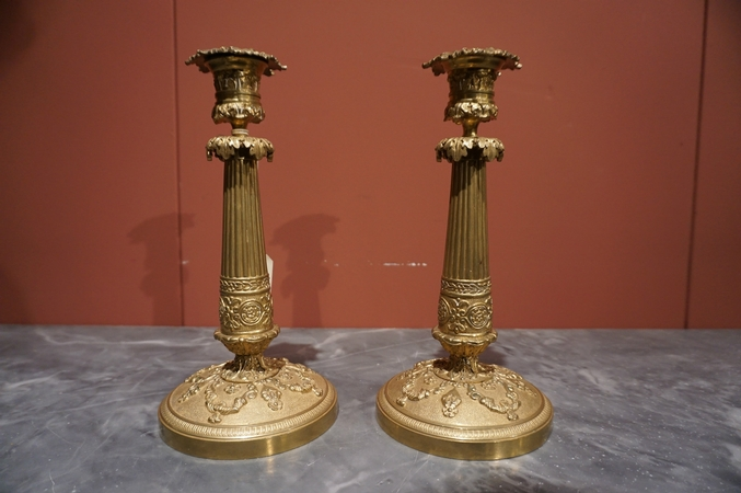 Late Empire Pair of candlesticks