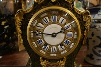 Louis XV style Clock in boulle, France 2nd half 19th C.