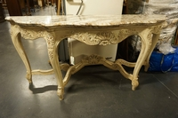 Louis XV style Console table in wood and marble first half 20th C