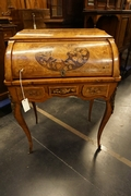 Louis XV style Marquetry desk in walnut, France 19th century