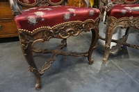 Louis XV style Pair of armchairs in walnut 19th century