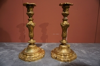 Louis XV Pair of candlesticks
