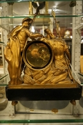 Louis XVI style Clock in gilded bronze, France 2nd half 18th C.