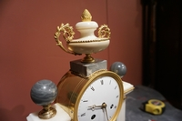 Louis XVI style Clock in marble, France last part 18th C.