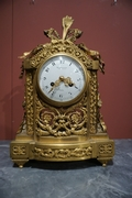 Louis XVI style Clock set in gilded bronze, France 2nd half 19th C.