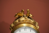 Louis XVI style Miniature clock set in bronze and marble, France 19th century