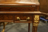 Louis XVI style Parquetry desk in mahogany, France 19th century