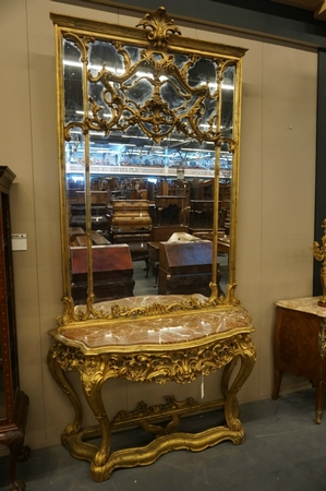 Mirror top console table