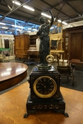 Mystery clock in bronze & marble, France around 1900