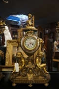 Napoleon III style Clock set in bronze , France 2nd half 19th C.