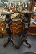 Pair of carved pedestals