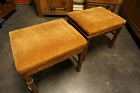 style Pair of stools in oak early 20th Century