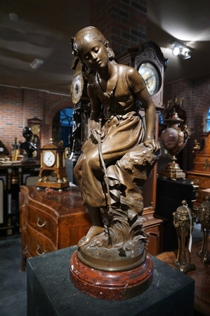 Signed Sculpture by Moreau