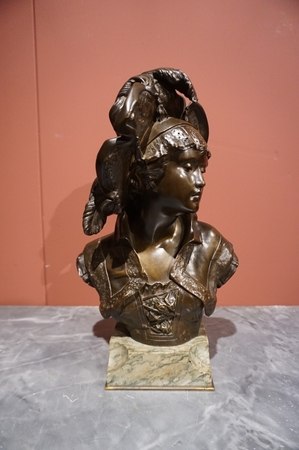 Signed statue by Barbedienne