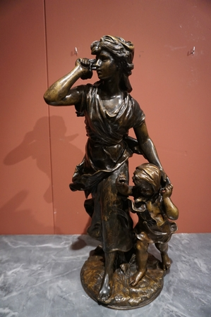Signed statue by Moreau