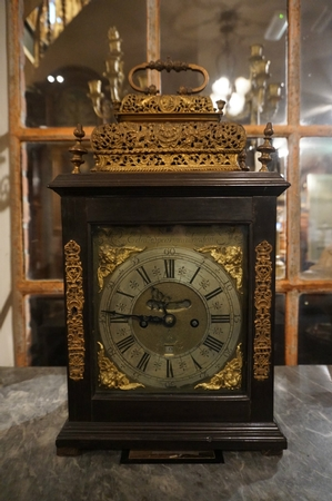Signed table clock by Edw. Speakman London