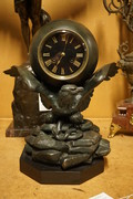 Spelter Eagle clock