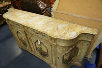 Venetian style painted sideboard in wood, Italy 2nd half 20th C.