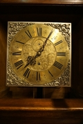 Vienna signed grandfather clock in walnut 19th Century