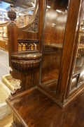 Vitrine in mahogany, England around 1900
